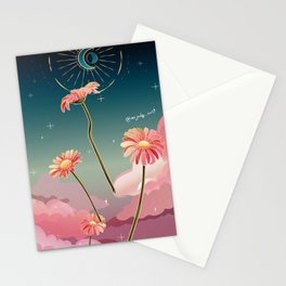 Falling night Stationery Cards