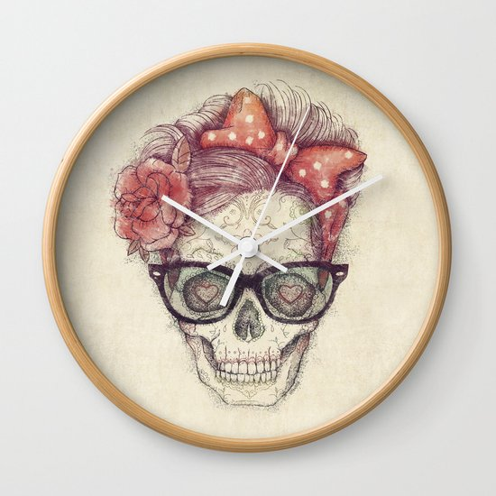 Hipster Girl is Dead Wall Clock