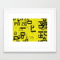 code Framed Art Prints featuring Code by ayarti