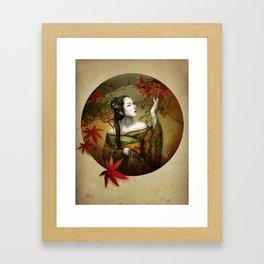 Momijigari [Maple Viewing] Framed Art Print