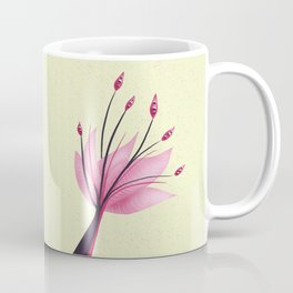 Pink Abstract Water Lily Flower Coffee Mug