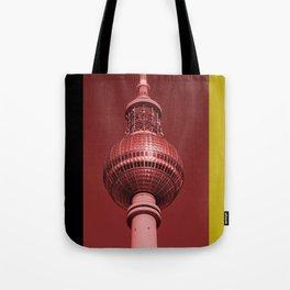 Berlin TV Tower Flag Tote Bag