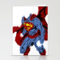 man of steel Stationery Cards featuring Man Of Steel by alsalat