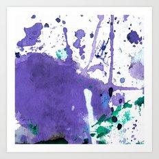 purple splash Art Print
