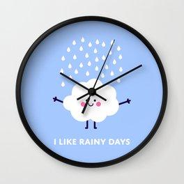 Cute rain cloud Wall Clock
