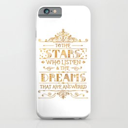 To the Stars - White iPhone Case