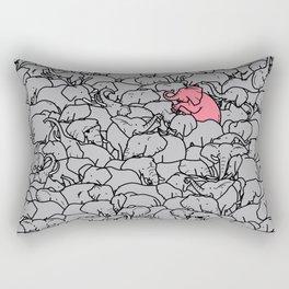 Word 2 the Herd v1 Rectangular Pillow