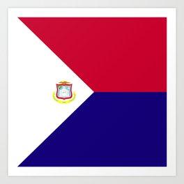 Saint Martin flag emblem Art Print