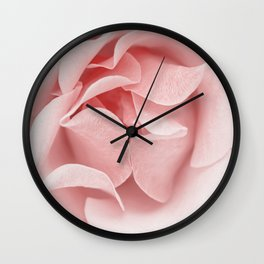 Pink flora Rose Bud- Roses and flowers Wall Clock