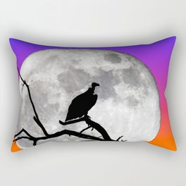 Vulture Silhouetted Against Supermoon Rectangular Pillow