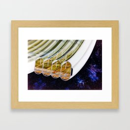 Agricultural modules on a Bernal sphere Framed Art Print