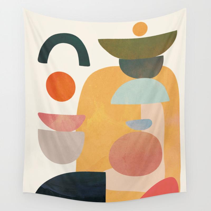 Modern Abstract Art 70 Wall Tapestry By Cityart7 Society6