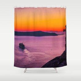 wonderful view Shower Curtain