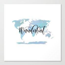 Wanderlust (blue/lilac) Canvas Print