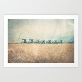 Venice cabins Art Print