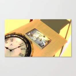 Liquid clock and art of fart Canvas Print