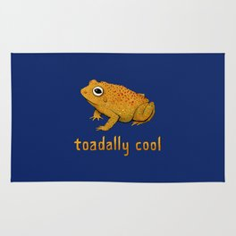 Toadally Cool Psychedelic Toad Rug