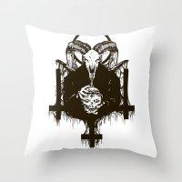 satan Throw Pillows featuring Satan by Lunaramour
