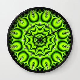 Spring Garden Mandala, Abstract Star Burst Delightful Spirals Wall Clock