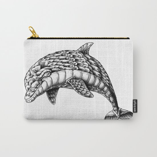 Ornate Dolphin Carry-All Pouch
