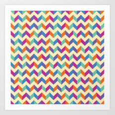 Coloured Chevron Art Print