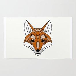 Geometric Fox - Abstract, Animal Design Rug