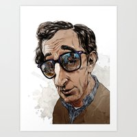 woody allen Art Prints featuring Woody Allen by Mitt Roshin