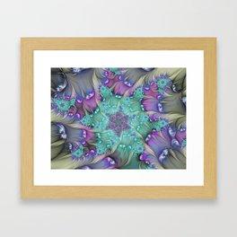 Find Yourself, Abstract Fractal Art Framed Art Print