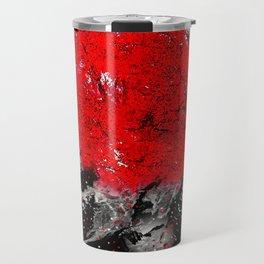 TREE RED WOLF WHITE Travel Mug