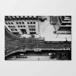 looking down on the tracks ... Canvas Print