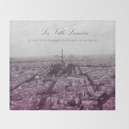 La Ville-Lumiére Throw Blanket