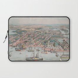Vintage Pictorial Map of Annapolis MD (1864) Laptop Sleeve