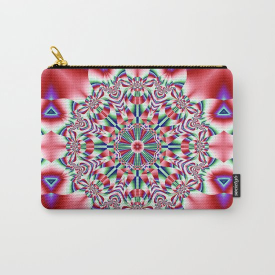 Decorative colourful patterns in a kaleidoscope design Carry-All Pouch