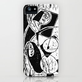 Xylography femme iPhone Case