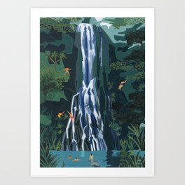 Waterfall stop Art Print