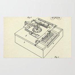Type Writing Machine-1868 Rug