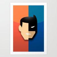 heroes Art Prints featuring Heroes by Evan Gaskin