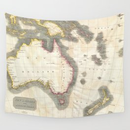 Vintage Map of Australia (1814) Wall Tapestry