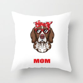 Cool German Shorthaired Dog Mom Dog Lover Pet Gift Throw Pillow