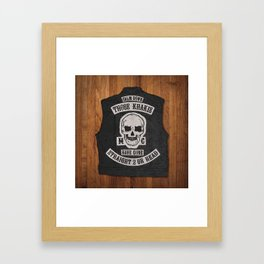 NO KHAKIS MC Framed Art Print