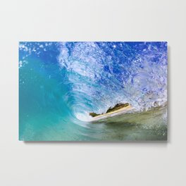Ocean Barrel Metal Print