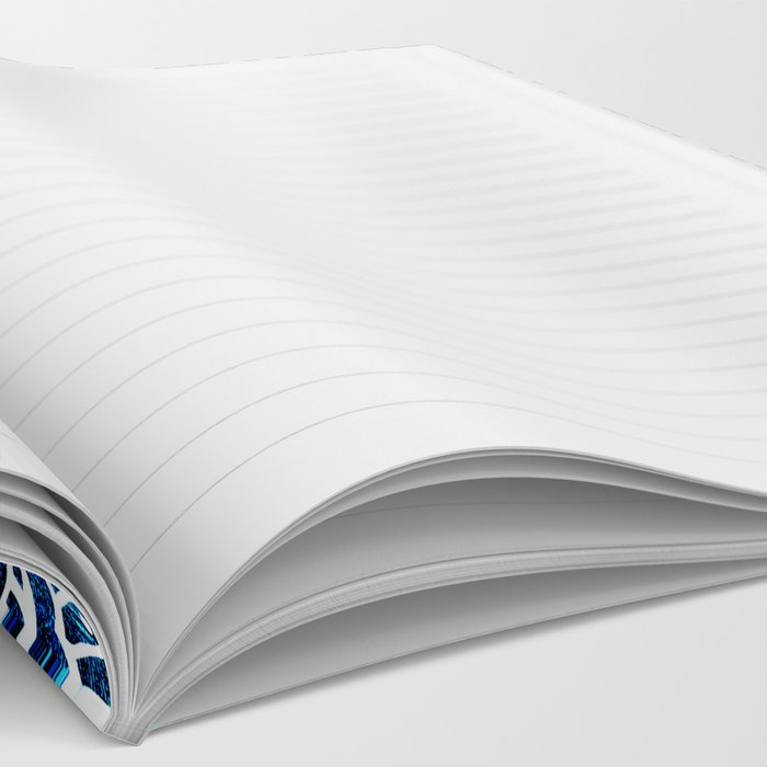 Mandala Cerulean Blue Colorburst Notebook