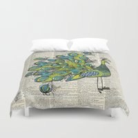 peacock Duvet Covers featuring Peacock  by Sheree Joy Burlington