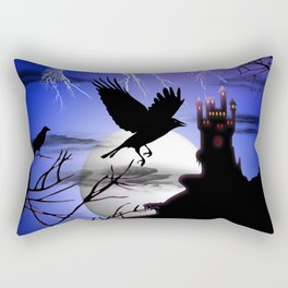 Raven's Haunted Castle Rectangular Pillow