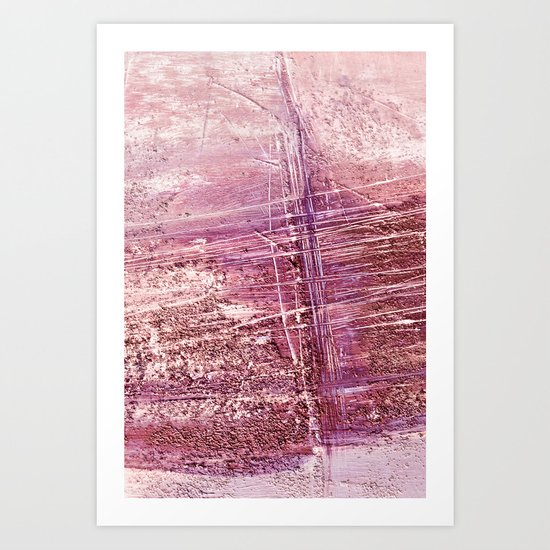 dusty pink abstract Art Print