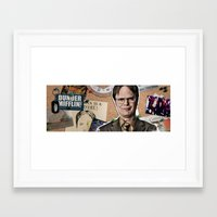 dwight Framed Art Prints featuring Dwight Schrute  by Susan Lewis