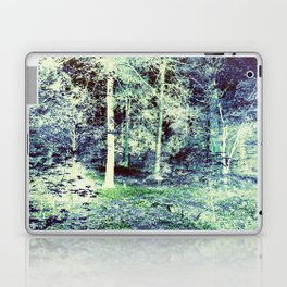 Dream Forest Teal Blue Green Laptop & iPad Skin