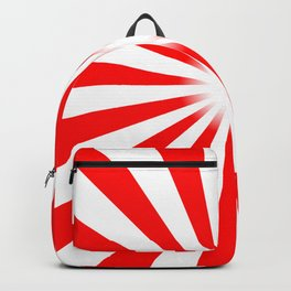 Red And White Bright Ray Background Backpack