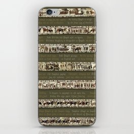 Bayeux Tapestry on Army Green - Full scenes & description iPhone Skin