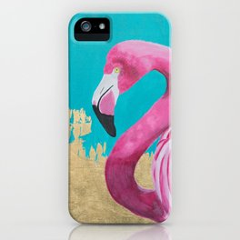 Flora the Flamingo iPhone Case